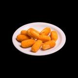 Gebratene Kartoffelrissolen Stockfotos