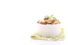 Gebratene Pilze stockbild