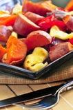 Gebratene süße Kartoffeln Lizenzfreie Stockbilder