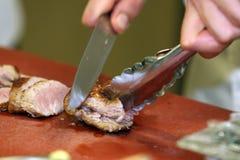 Gebratene Scheiben der Schweinefleischverkleidung Lizenzfreies Stockfoto