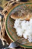 Gebratene Stange mit Reis Lizenzfreies Stockfoto