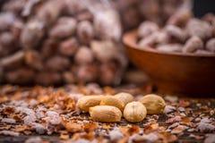 Gebratene und gesalzene Erdnüsse lizenzfreies stockfoto