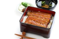 Gebratener Aal auf Reis, unaju, japanische unagi Küche Stockbilder