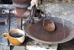 Gebratener Arabicakaffee in Mae Klang Luan stockfotografie