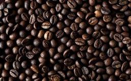Gebratener EspressoKaffeebohnehintergrund Lizenzfreies Stockfoto