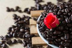 Gebratener Kaffee Lizenzfreie Stockfotografie