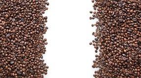 Gebratener Kaffeebohnehintergrund Lizenzfreies Stockbild