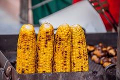 Gebratener Mais auf Grill Lizenzfreie Stockbilder