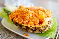 Gebratener Reis in der Ananas Lizenzfreies Stockbild