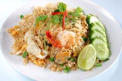 Gebratener Reis der essbaren Meerestiere Lizenzfreie Stockfotografie