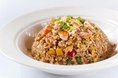 Gebratener Reis der essbaren Meerestiere Stockfotos