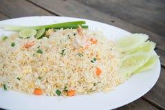 Gebratener Reis der Garnele Stockbild