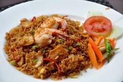 Gebratener Reis der Meeresfrüchte Stockfoto
