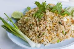 Gebratener Reis der thailändischen Krabbe Lizenzfreie Stockfotos