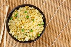 Gebratener Reis des Eies stockbilder