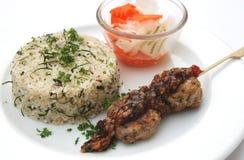Gebratener Reis des Krauts mit Fleischball Lizenzfreie Stockbilder