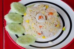 Gebratener Reis mit essbaren Meerestieren Lizenzfreie Stockfotografie