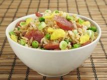 Gebratener Reis mit Wurst Lizenzfreie Stockfotografie