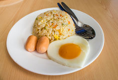 Gebratener Reis und Ei lizenzfreies stockbild