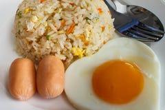 Gebratener Reis und Ei lizenzfreie stockbilder