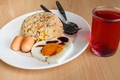 Gebratener Reis und Ei lizenzfreie stockfotografie