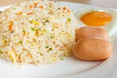 Gebratener Reis und Ei lizenzfreie stockfotos