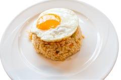 Gebratener Reis und Ei stockfotografie