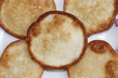 Gebratener Süßkartoffelkuchen Stockfotos