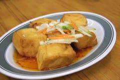 Gebratener Tofu stockfotografie