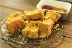 Gebratener Tofu Lizenzfreie Stockbilder