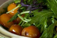 Gebratener Tomaten-und Kopfsalat-Salat Lizenzfreies Stockbild