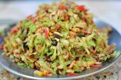 Gebratenes Brötchen mit chinesischer Art des Veggiematerials Lizenzfreies Stockbild