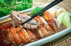 Gebratenes Duck Fillet With Sauce und Gemüse Stockfotografie