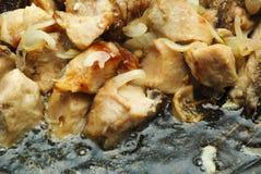 Gebratenes Fleisch stockbild