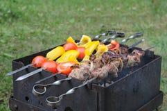 Gebratenes Fleisch mit Gemüse Stockfoto