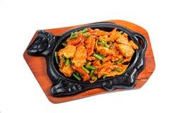 Gebratenes Fleisch und Gemüse Lizenzfreies Stockfoto