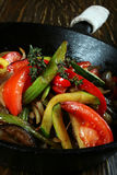 Gebratenes Gemüse lizenzfreie stockfotos