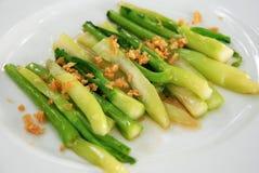 Gebratenes Gemüse mit Austernsoße Lizenzfreie Stockfotos