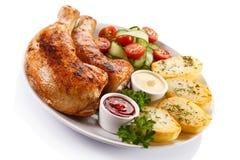 Gebratenes Hühnerbein Stockfotografie