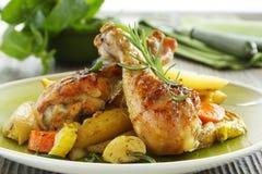 Gebratenes Hühnerbeine Stockbild