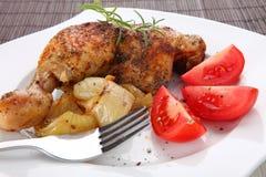 Gebratenes Hühnerbeine Stockfotos