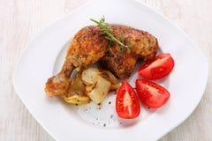 Gebratenes Hühnerbeine Lizenzfreie Stockbilder