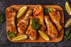 Gebratenes Hühnerbeine, Draufsicht Lizenzfreies Stockbild