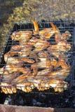 Gebratenes Hühnerflügel Stockbild