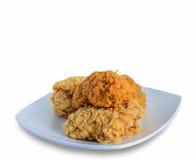 Gebratenes Huhn auf Platte Lizenzfreies Stockbild