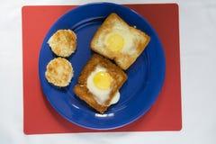 Gebratenes Huhn der Eier Stockbild