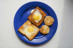 Gebratenes Huhn der Eier Lizenzfreies Stockbild