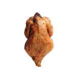 Gebratenes Huhn mit einer goldenen, knusperigen Kruste Lizenzfreie Stockfotografie