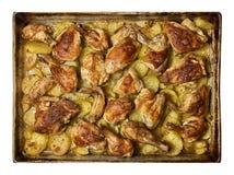 Gebratenes Huhn mit potatos Lizenzfreie Stockbilder