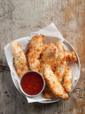 Gebratenes Huhn-Nuggets Stockbild